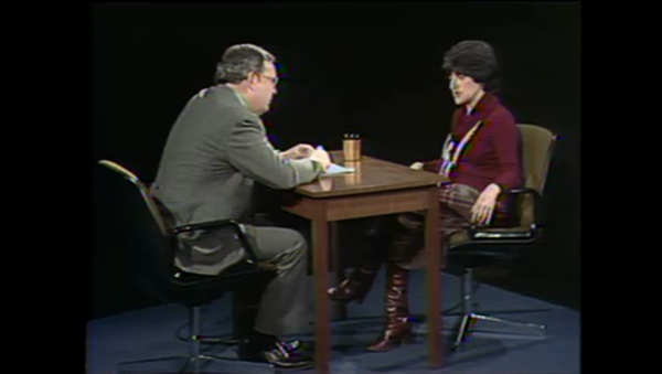 WTTW's John Callaway interviews the 'New Yorker' writer Jane Kramer in 1978
