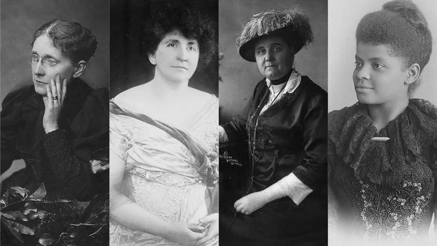 Frances Willard, Grace Wilbur Trout, Jane Addams, Ida B. Wells