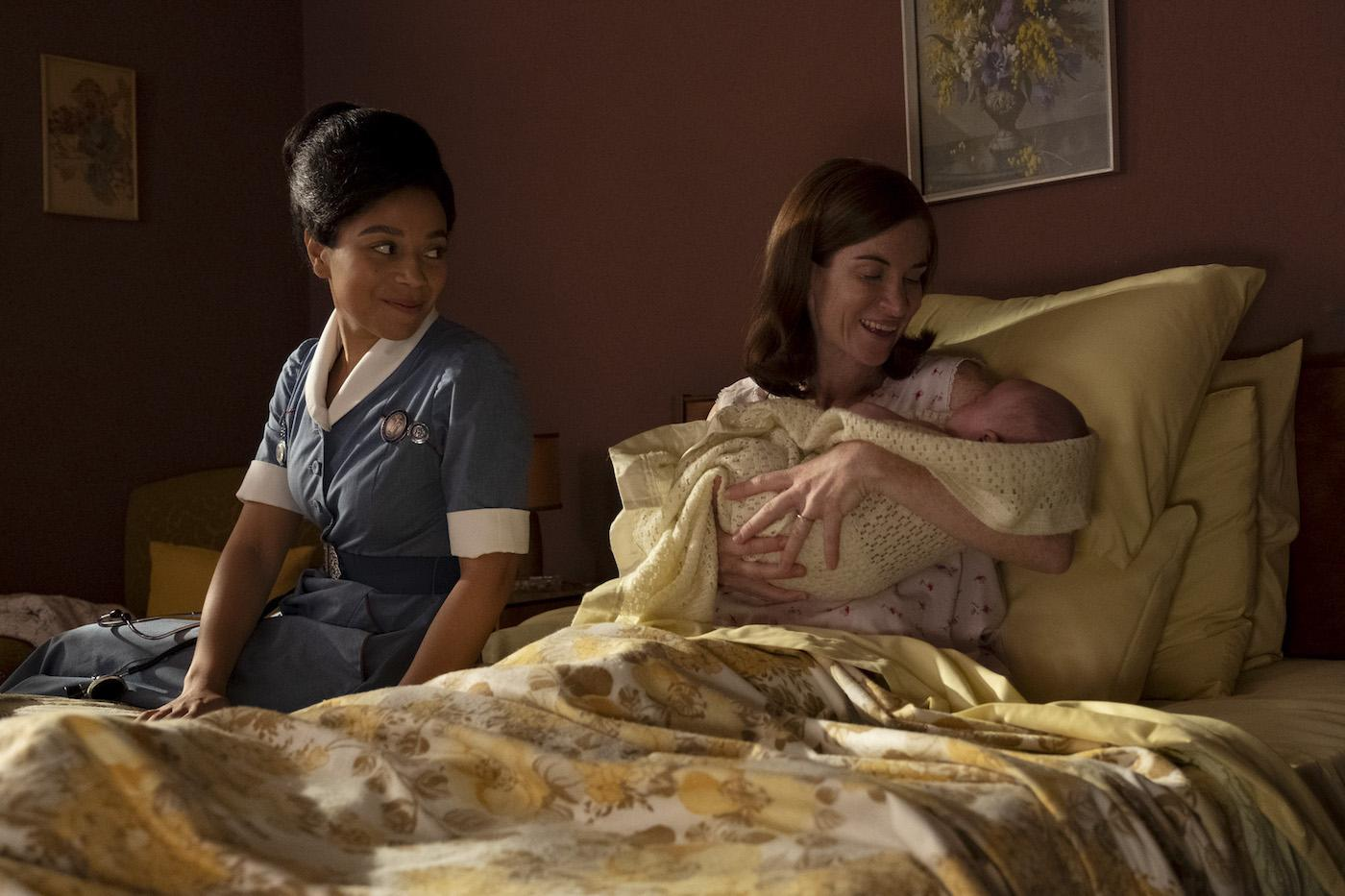 Lucille with Maureen Bryant in 'Call the Midwife.' Photo: BBC / Neal Street Productions