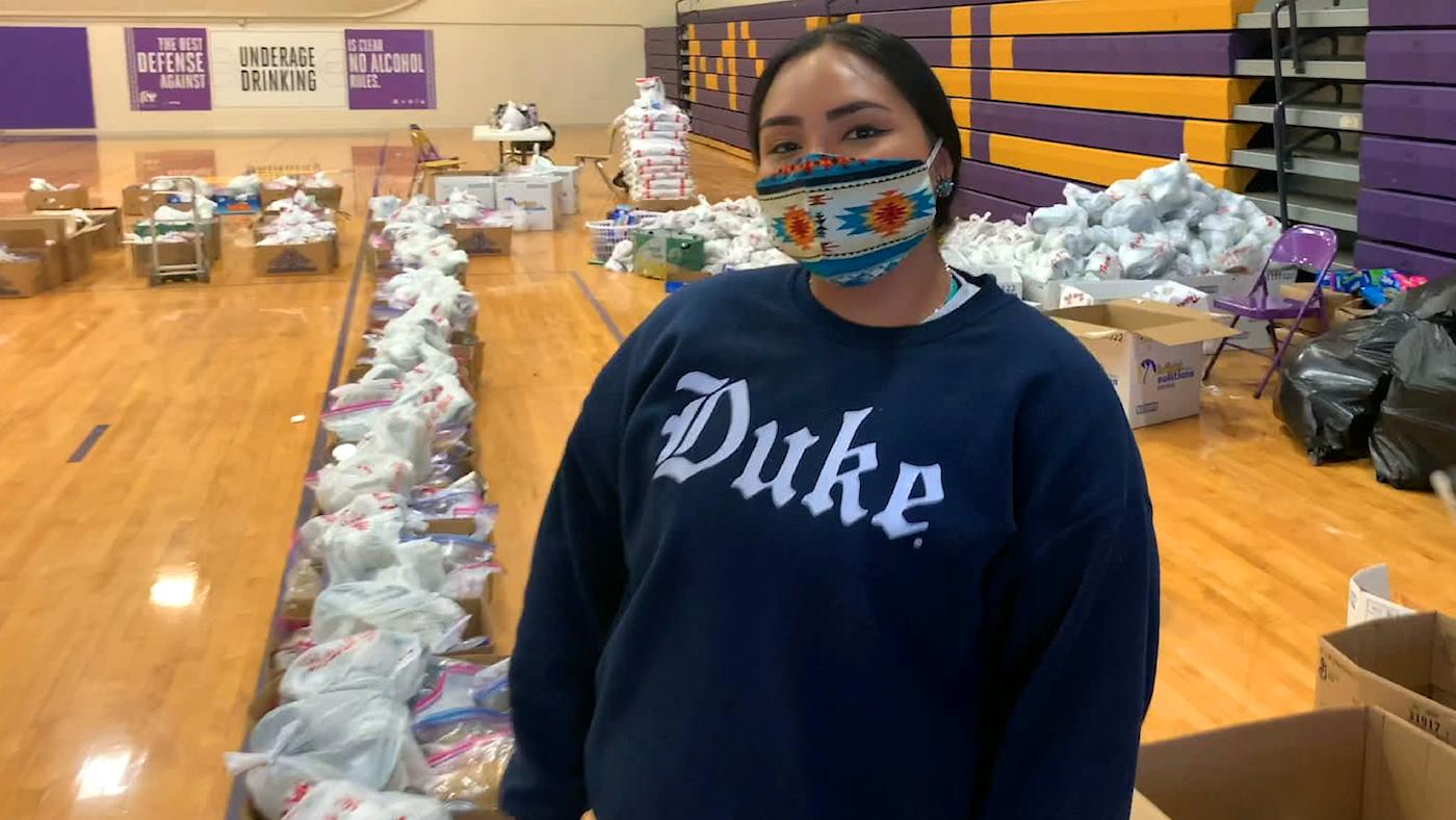 A woman gathers donations in Utah. Photo: PBS/RadicalMedia