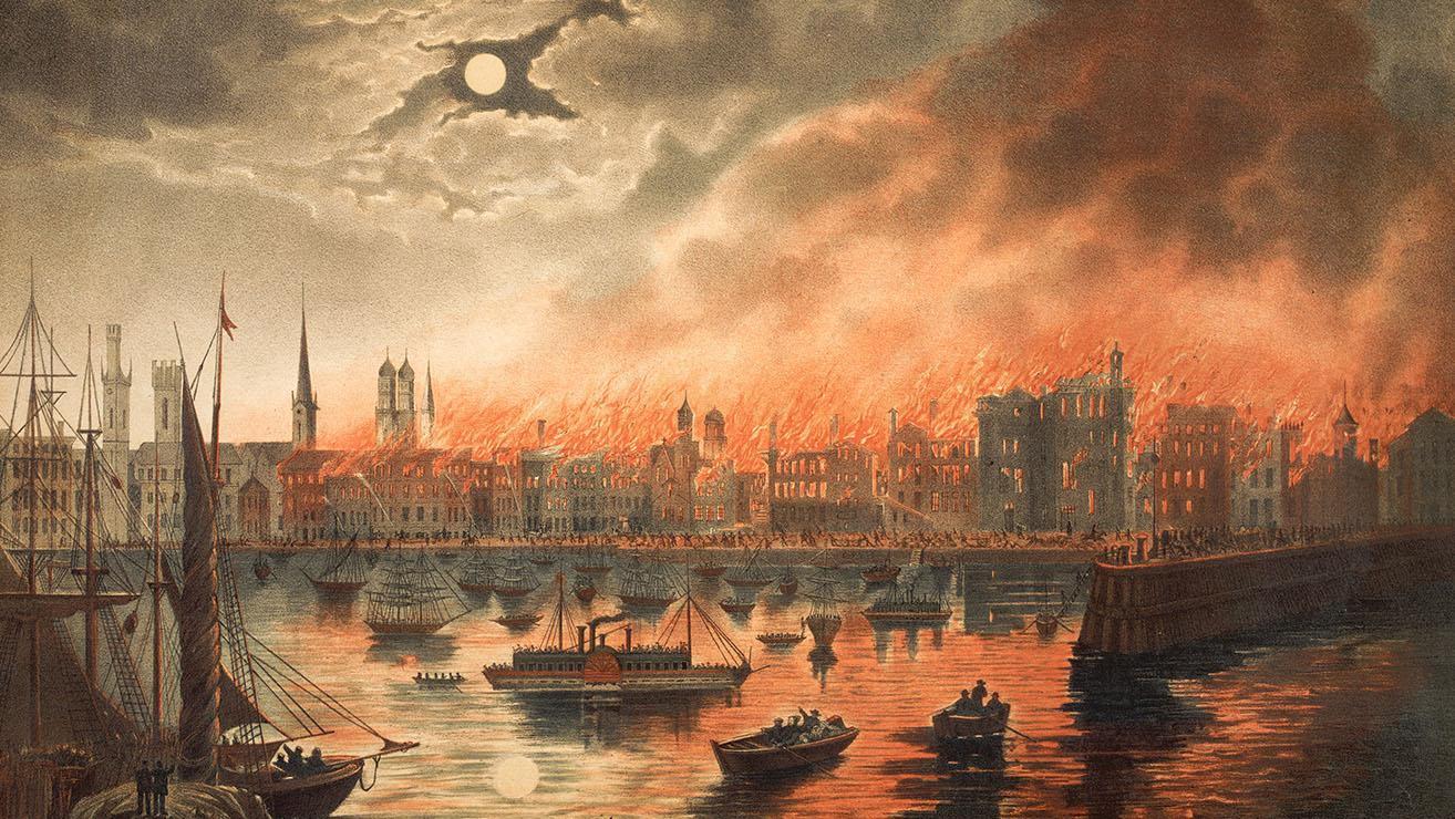 The Great Chicago Fire, Image courtesy of the Chicago History Museum
