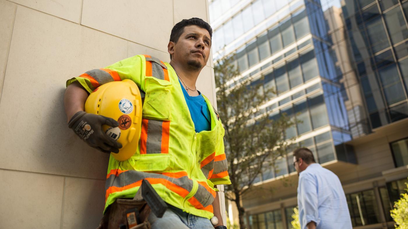 Christian, a construction worker, activist and DACA recipient in Texas. Photo: Moyo Oyelola