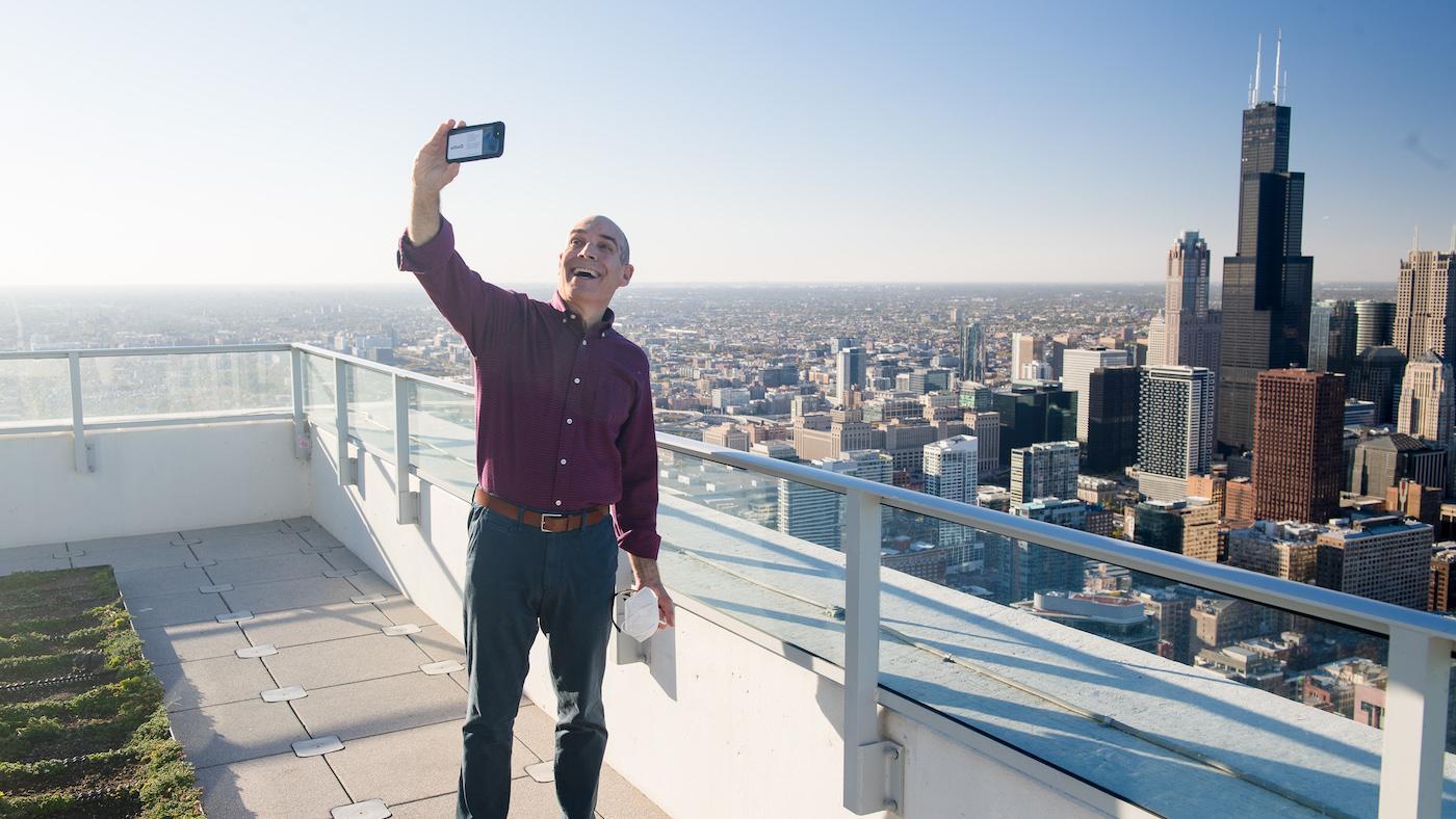 Geoffrey Baer in 'Chicago from the Air.' Photo: WTTW/Ken Carl