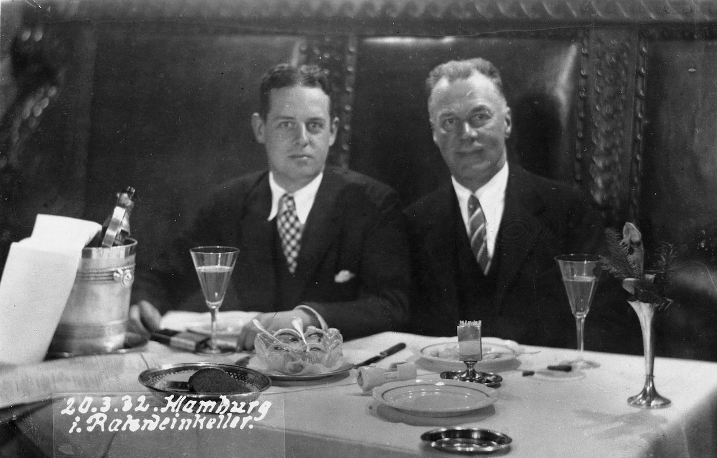 John Gregg and Robert Allerton in Hamburg, 1932. Photo: Courtesy University of Illinois Archives