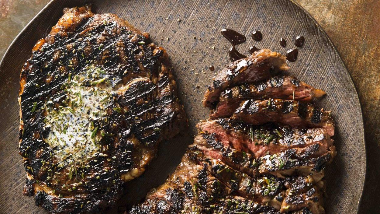 Rib-eye steak with rosemary and pomegranate molasses from 'Christopher Kimball's Milk Street.' Photo: Connie Miller of CB Creatives