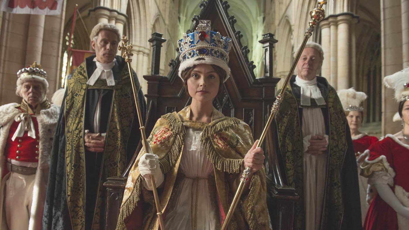 Τζένα Κόλμαν ως βασίλισσα Βικτώρια.  Φωτογραφία: ITV