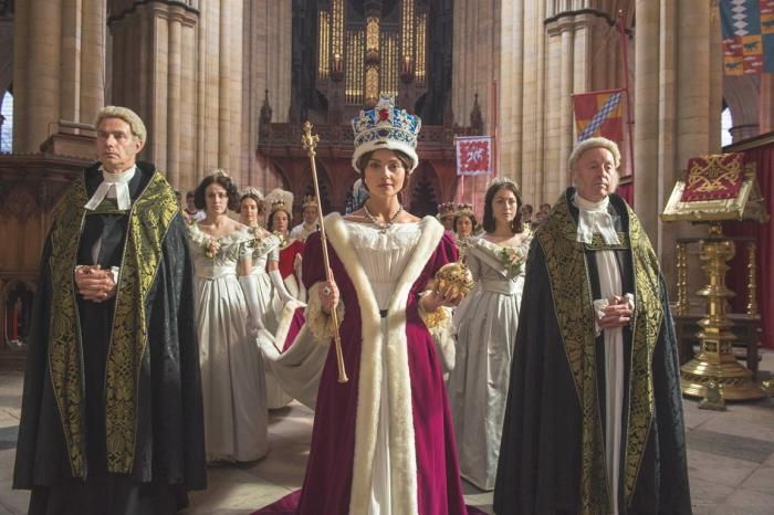 Jenna Coleman is both fiery and regal as Queen Victoria. (ITV Plc)