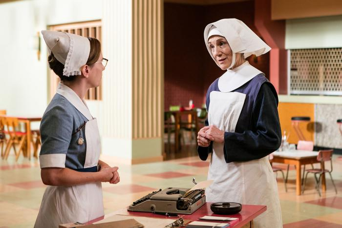 Shelagh Turner and Sister Ursula in Call the Midwife. (Courtesy of Neal Street Productions 2016)