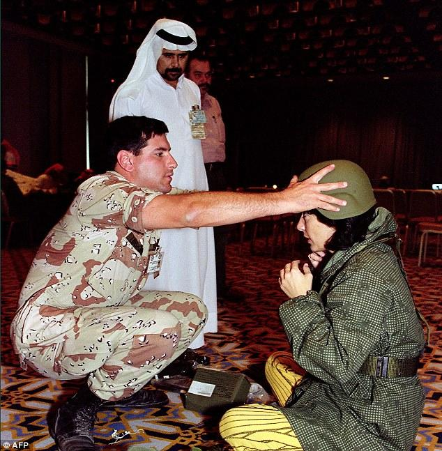 Christiane Amanpour during the Gulf War