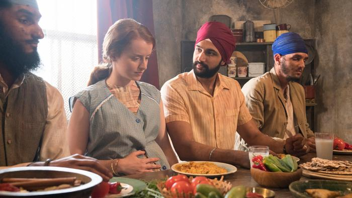 Cilla and Pardeep Singh in Call the Midwife. Photo: BBC/Neal Street Productions