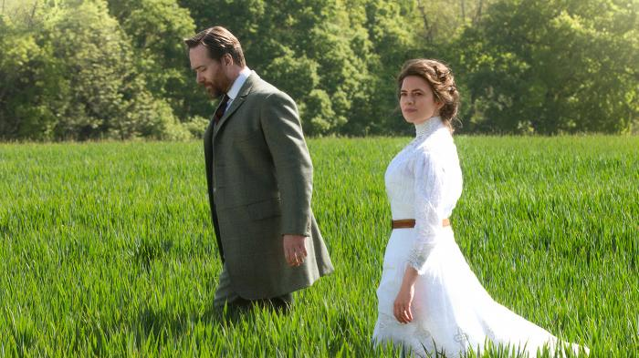 Henry Wilcox and Margaret Schlegel in 'Howards End.' Photo: Starz Entertainment