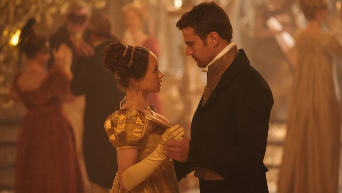 Charlotte and Sidney dance at a ball in Sanditon. Photo: Red Planet Pictures/ITV 2019
