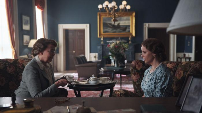 Eleanor Roosevelt and Princess Märtha in 'Atlantic Crossing'