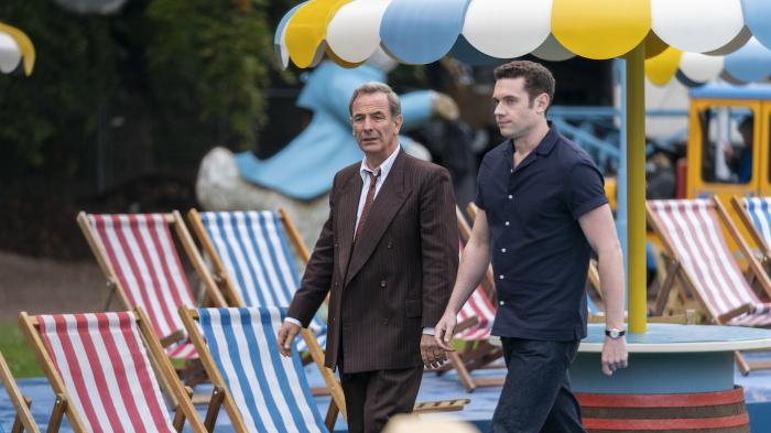 Geordie and Will on vacation in 'Grantchester.' Photo: Masterpiece and Kudos