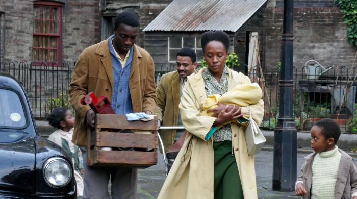 Cyril with the Clarkes in 'Call the Midwife.' Photo: Neal Street Productions
