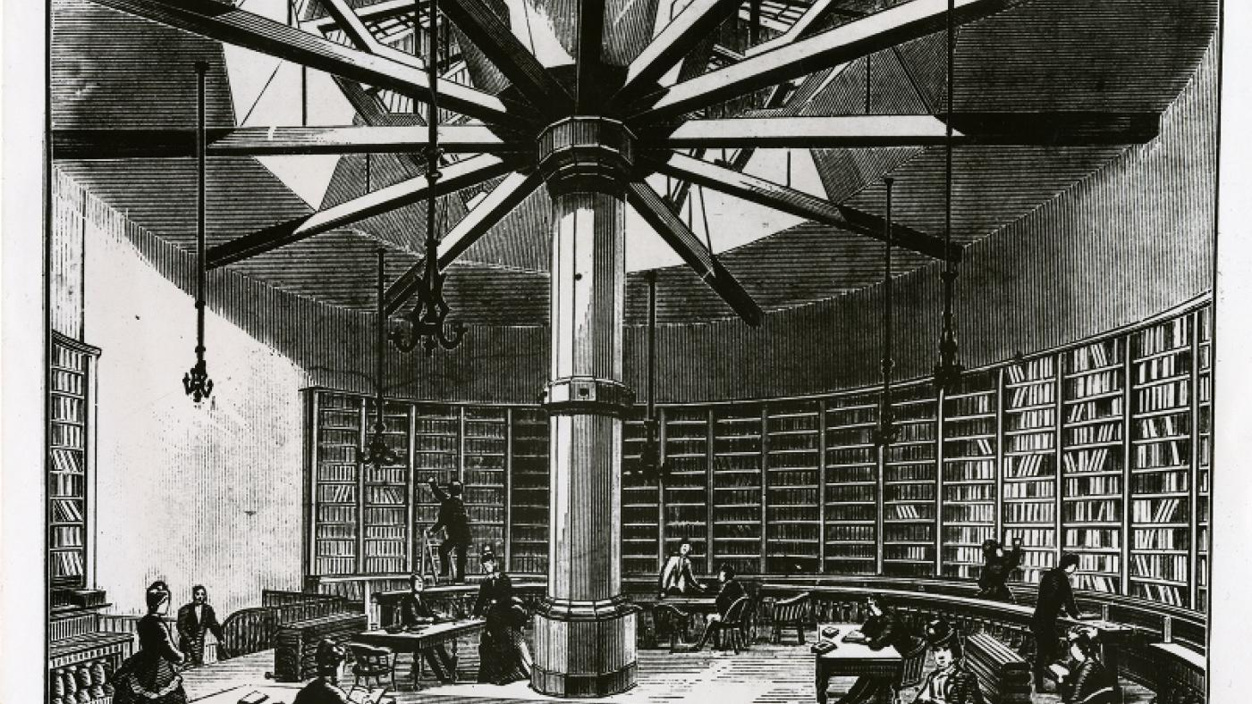 The first location of the Chicago Public Library, in a recommissioned water tank.