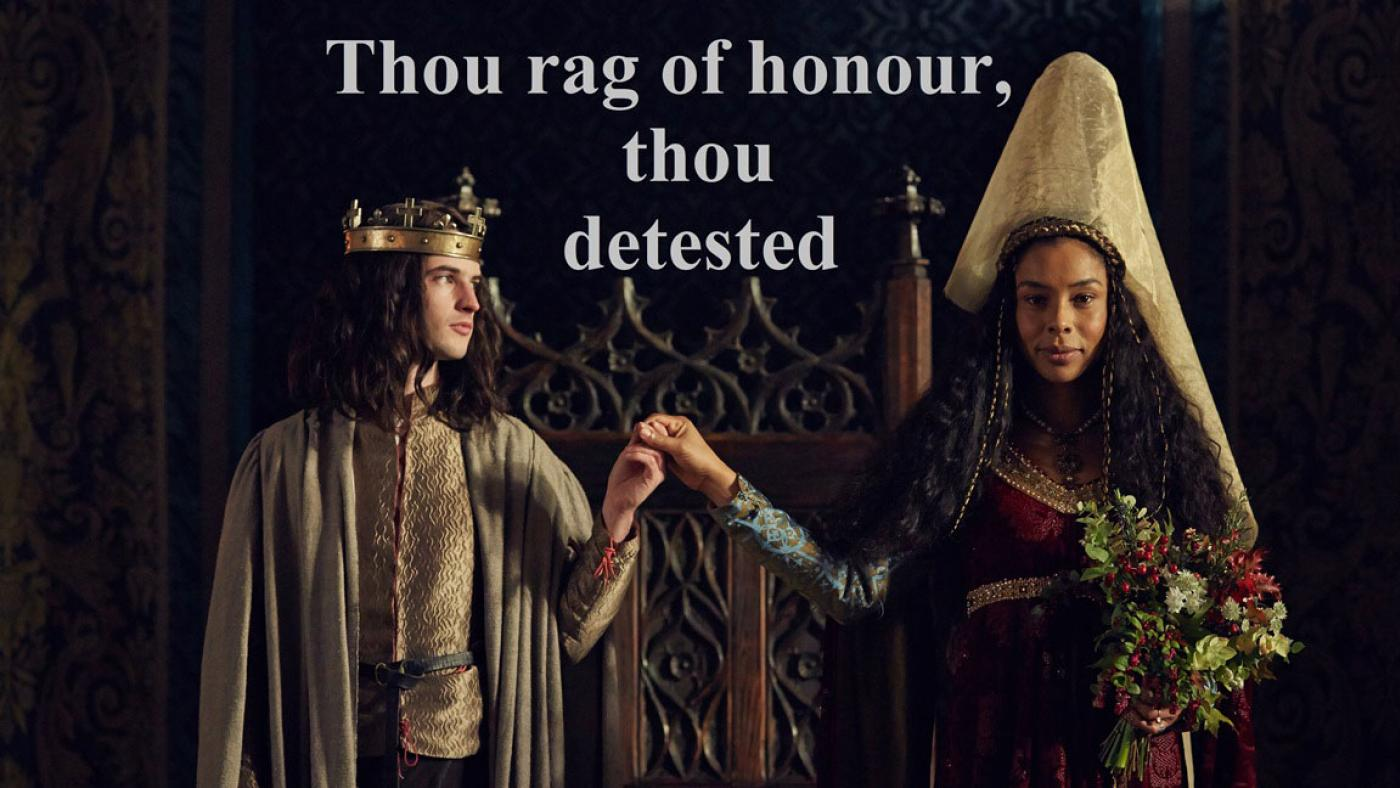 Henry VI and Queen Margaret in The Hollow Crown: The Wars of the Roses.