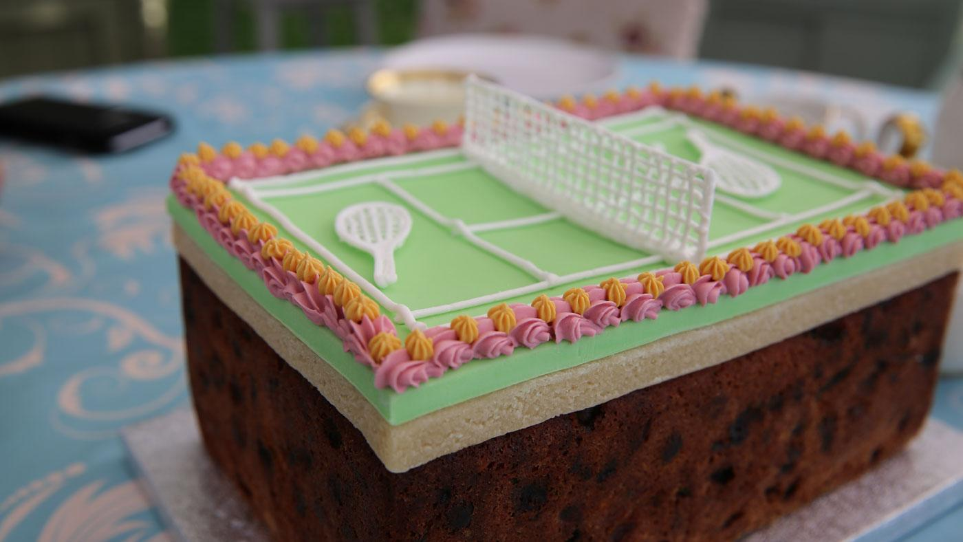 Tennis Fruit Cake from The Great British Baking Show. (Courtesy of Love Productions)