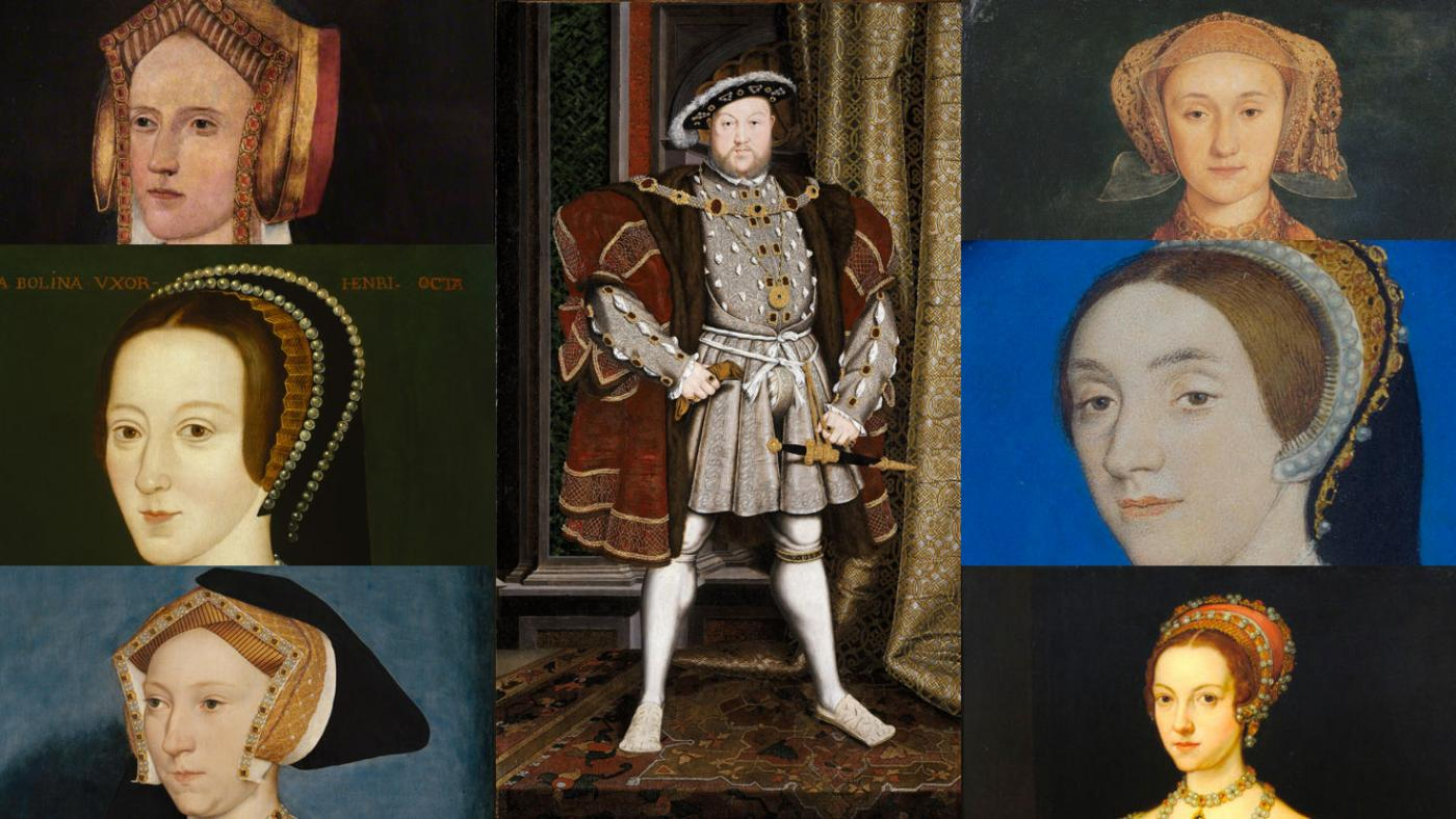 The six wives of King Henry VIII.