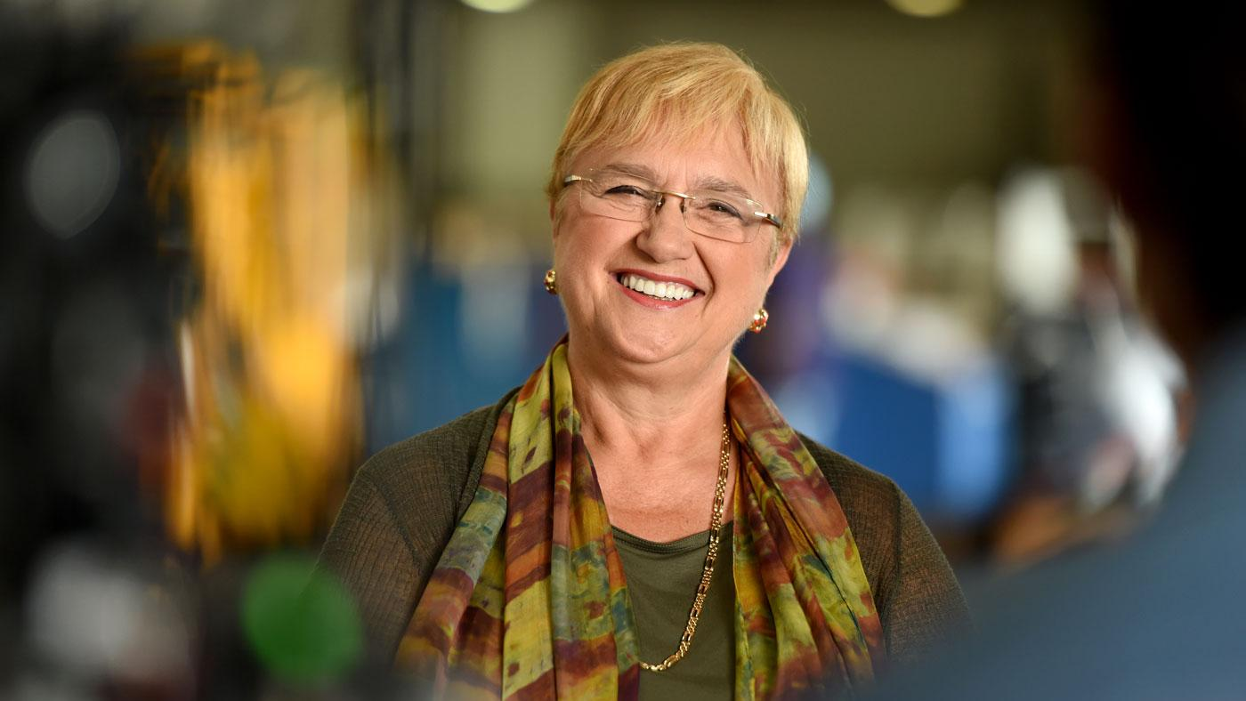 "Lidia Bastianich in 'Lidia Celebrates America: Holiday for Heroes."" (Courtesy of Meredith Nierman/WGBH)"
