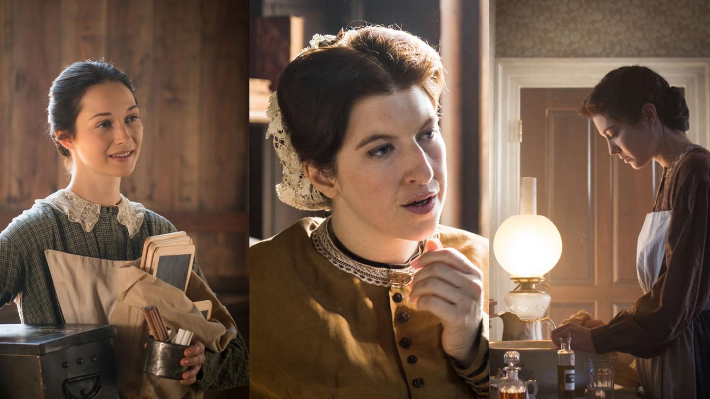 Emma Green, Anne Hastings, and Mary Phinney of Mercy Street. (Courtesy of Erik Heinila/PBS and Antony Platt/PBS)