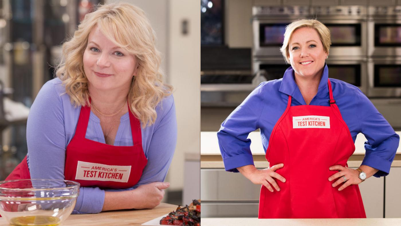 Bridget Lancaster and Julia Collin Davison, co-hosts of America's Test Kitchen. (Courtesy of America's Test Kitchen)