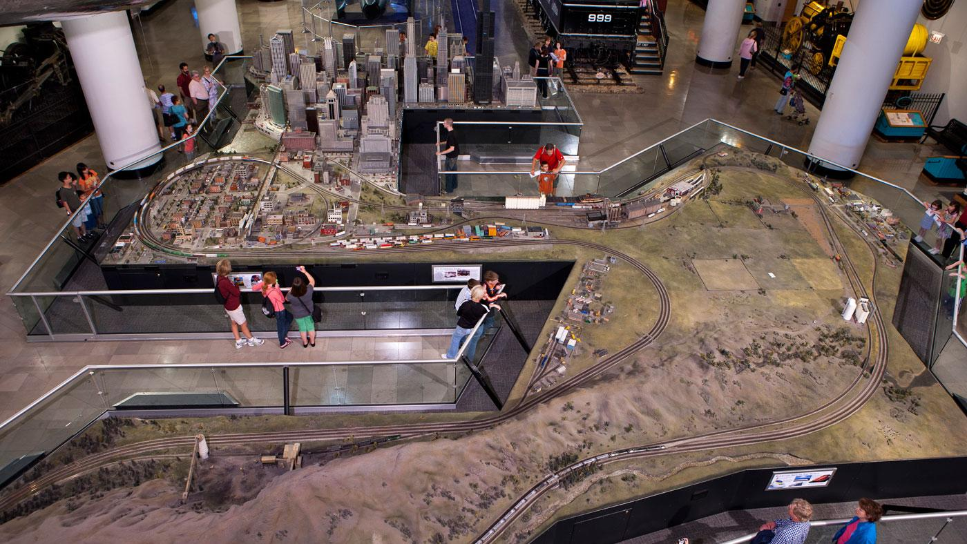 The Museum of Science and Industry's Great Train Story exhibit. (Courtesy of J.B. Spector/Museum of Science and Industry, Chicago)