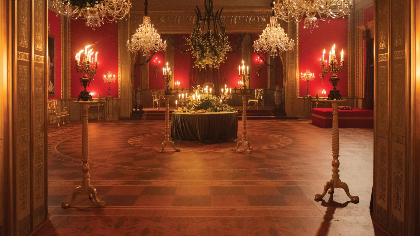"A ballroom set from ""Victoria."" (Courtesy of ITV Plc)"