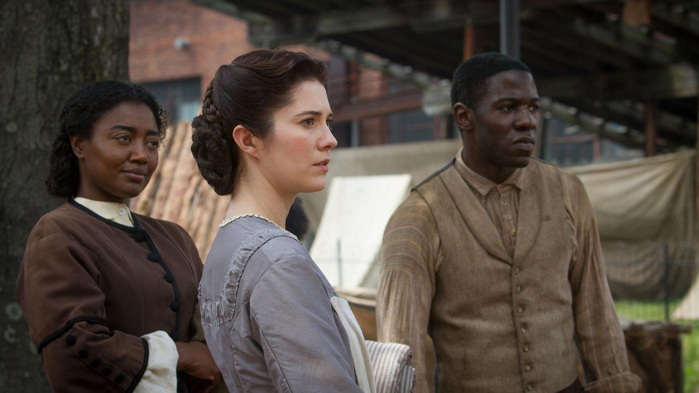 Charlotte Jenkins, Mary Phinney, and Samuel Diggs on 'Mercy Street.' (Courtesy of PBS/Erik Heinila)