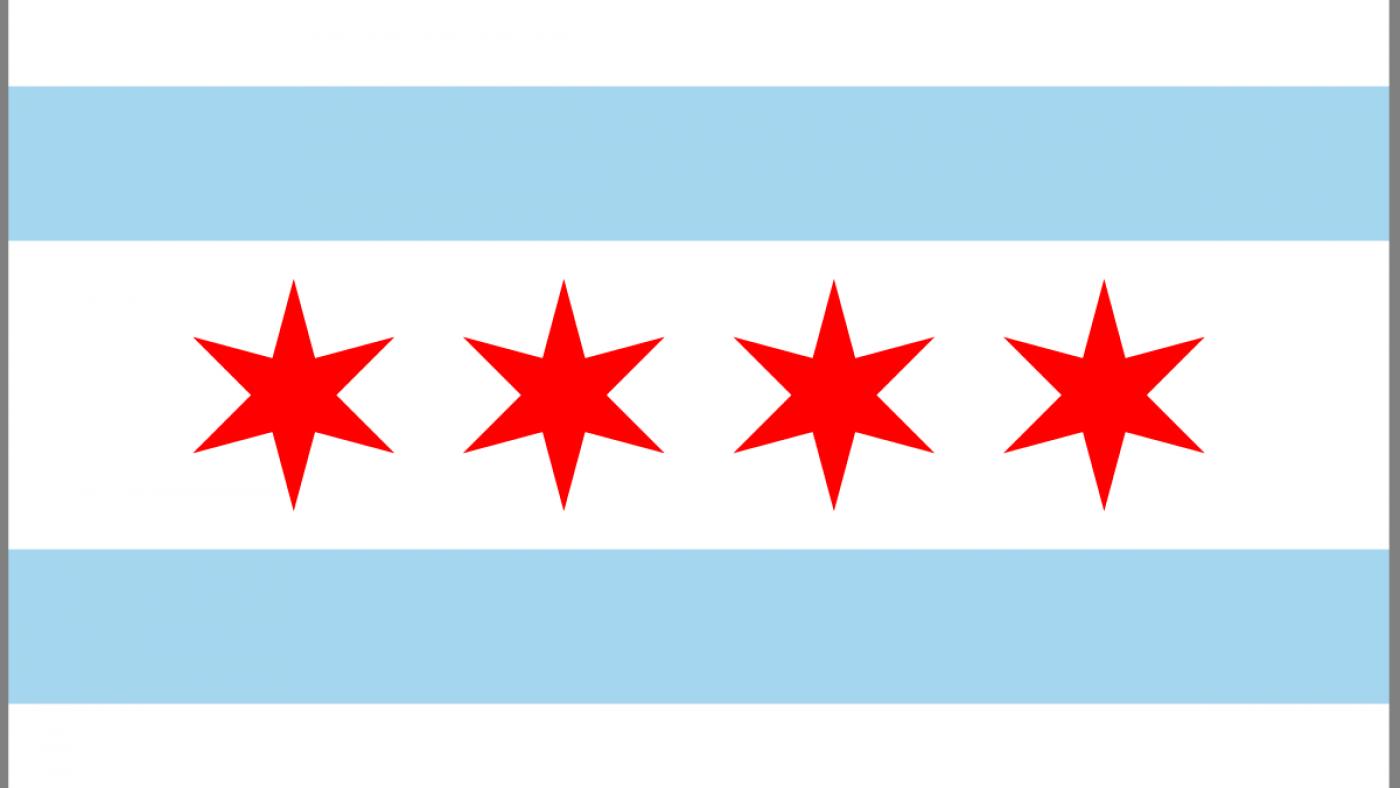 The Chicago Flag.