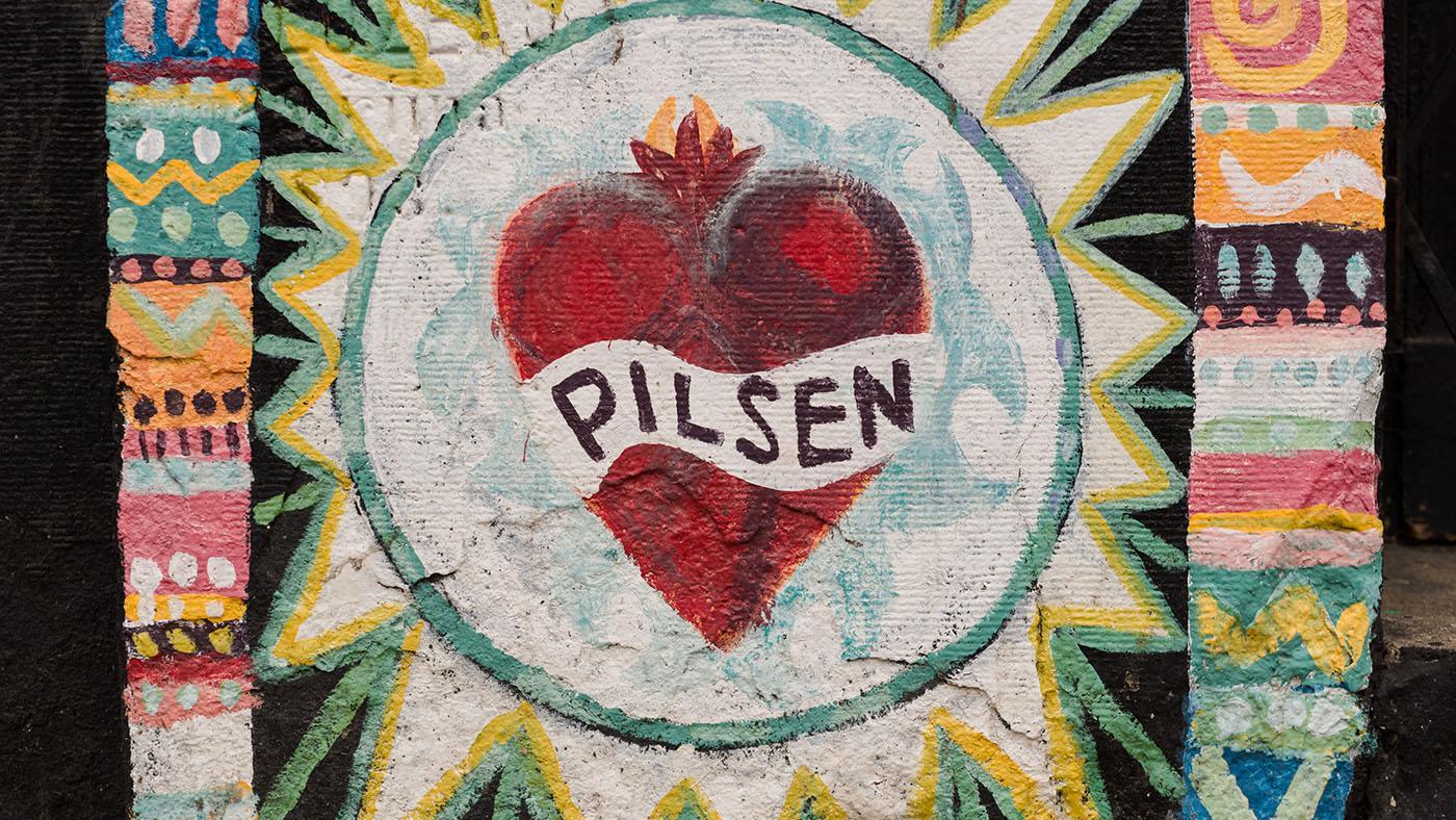 A mural in the Chicago neighborhood of Pilsen. (Ken Carl)