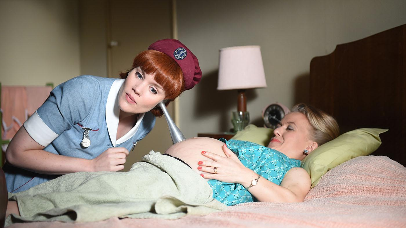 Emerald Fennell as Patsy Mount, Rachel Denning as Penny Reed in 'Call the Midwife.' Photo: Neal Street Productions 2016