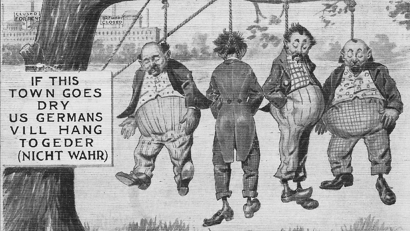 An anti-German cartoon from World War I. Image courtesy Joseph Gustaitis