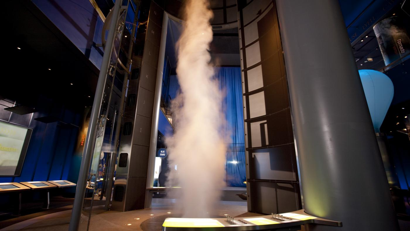 The Museum of Science and Industry's 40-foot tornado. Photo: J.B. Spector/Museum of Science and Industry, Chicago