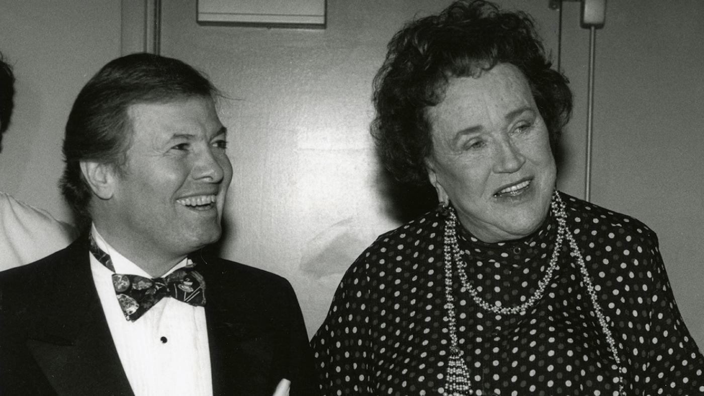 Jacques Pépin and Julia Child, c. 1980s. Photo: Courtesy Jacques Pépin