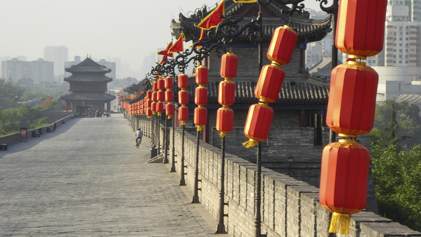 Xi'an city walls. Photo: Mick Duffield