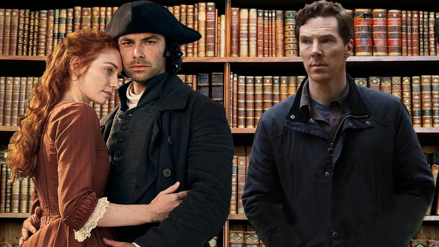 Poldark and Benedict Cumberbatch in The Child in Time. Photos: Mammoth Screen; Pinewood Television, SunnyMarch TV and MASTERPIECE