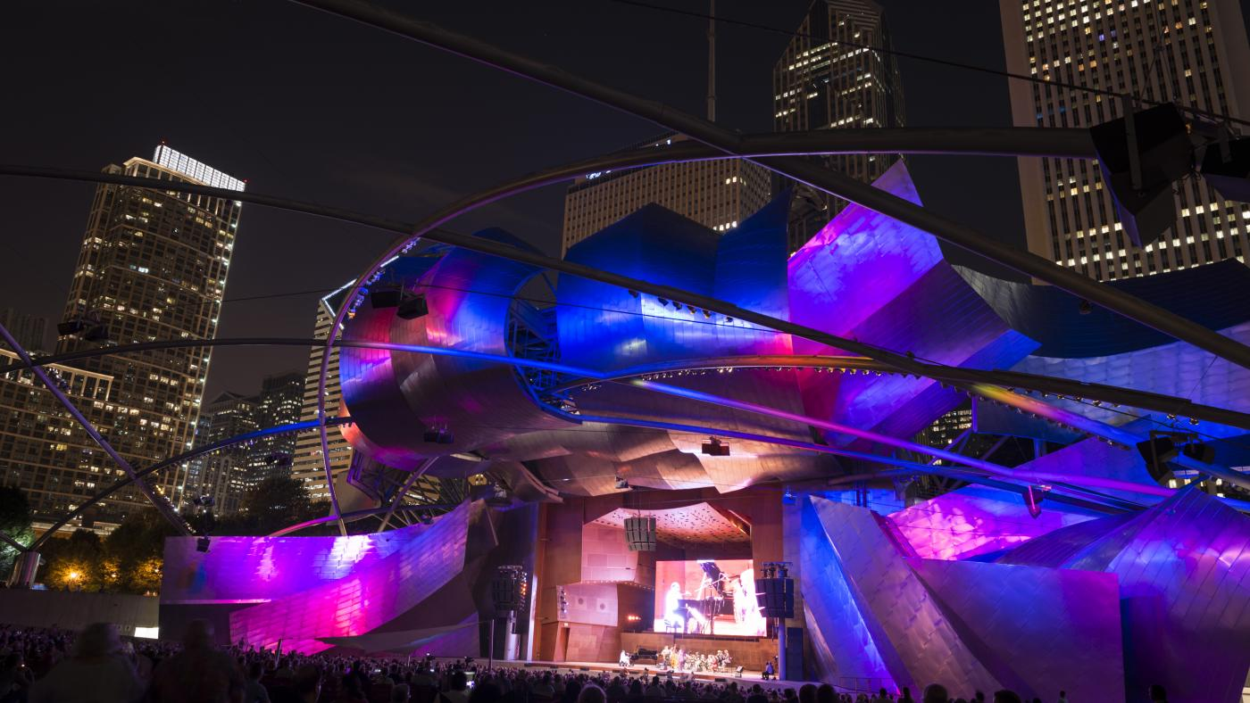 The Chicago Jazz Festival at Millennium Park's Pritzker Pavilion. Photo: Courtesy of City of Chicago