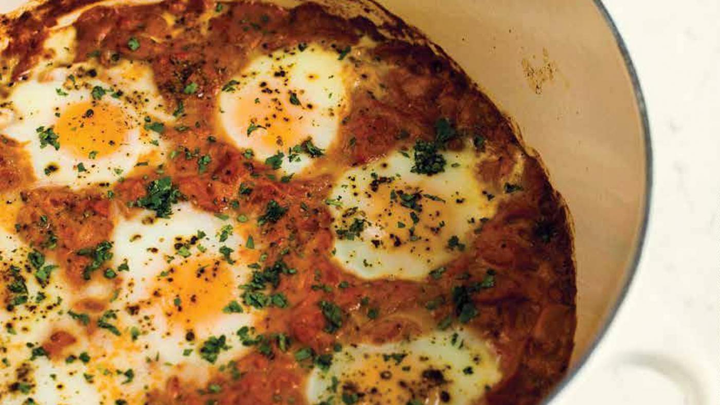 Curry Braised Eggs. Photo: Courtesy Milk Street