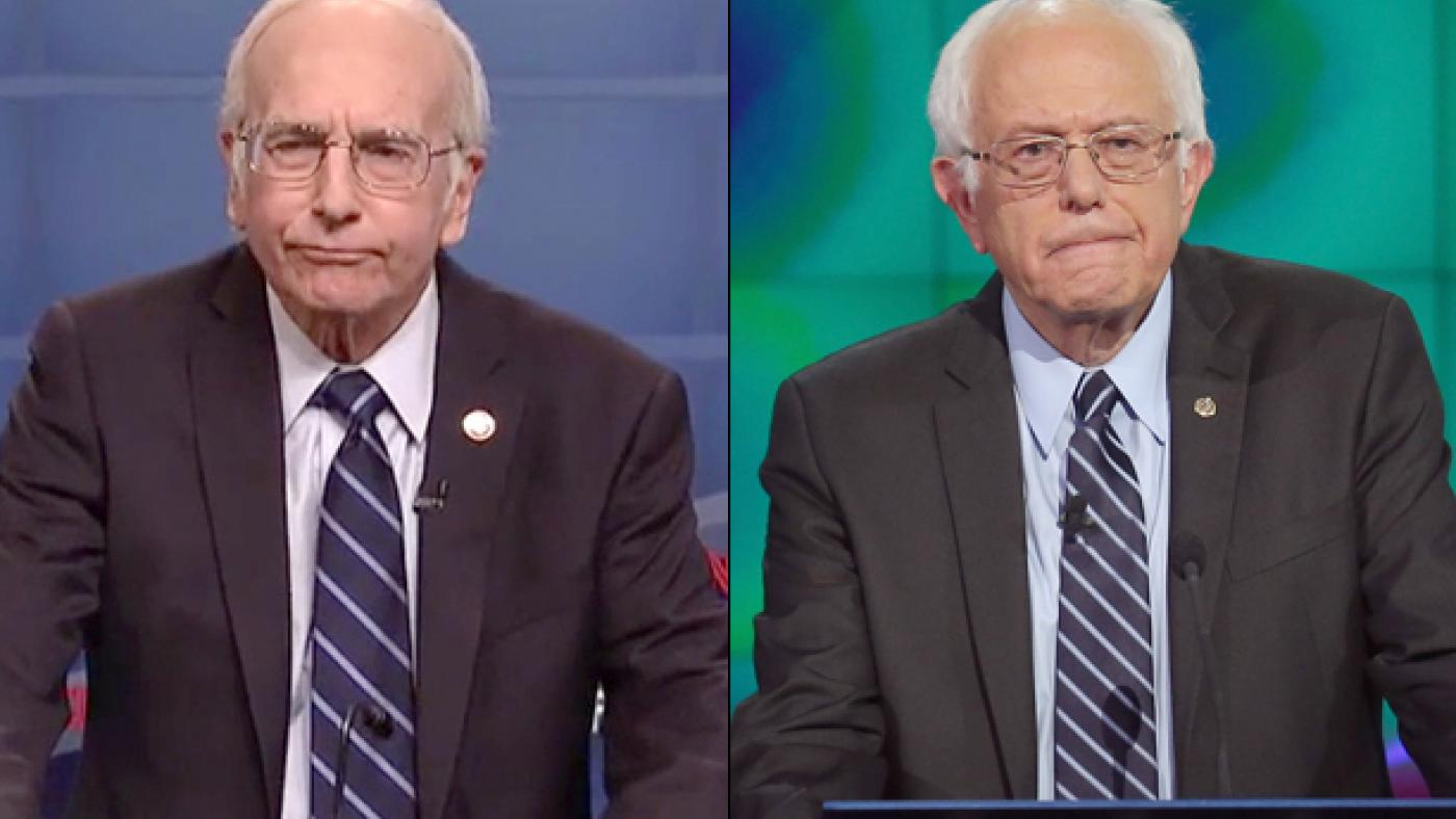 Larry David and Bernie Sanders