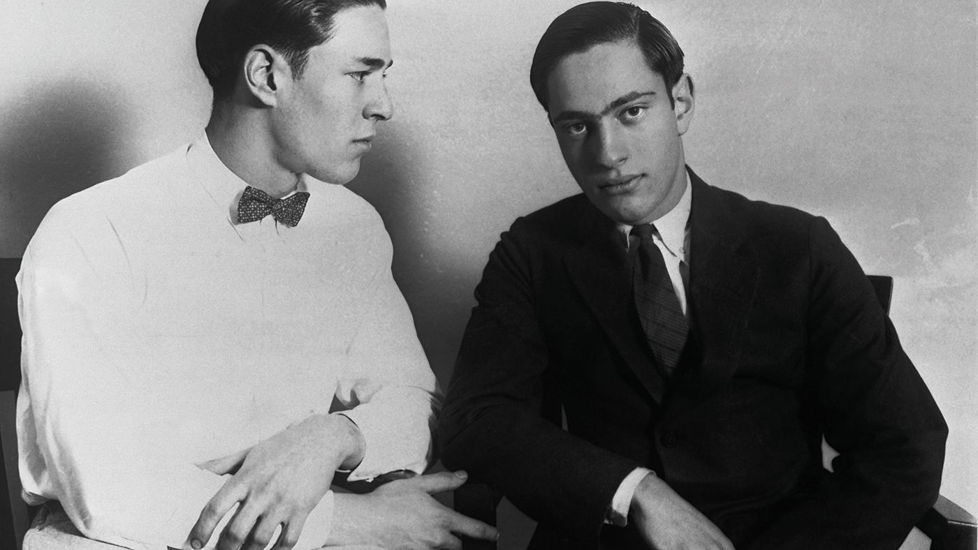 Richard Loeb and Nathan Leopold. Photo: Courtesy of Bettmann/CORBIS