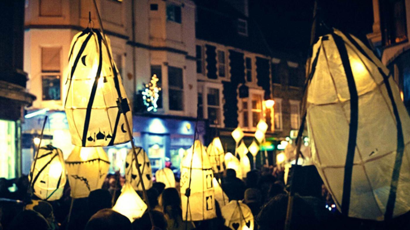The Burning of the Clocks in Brighton, England