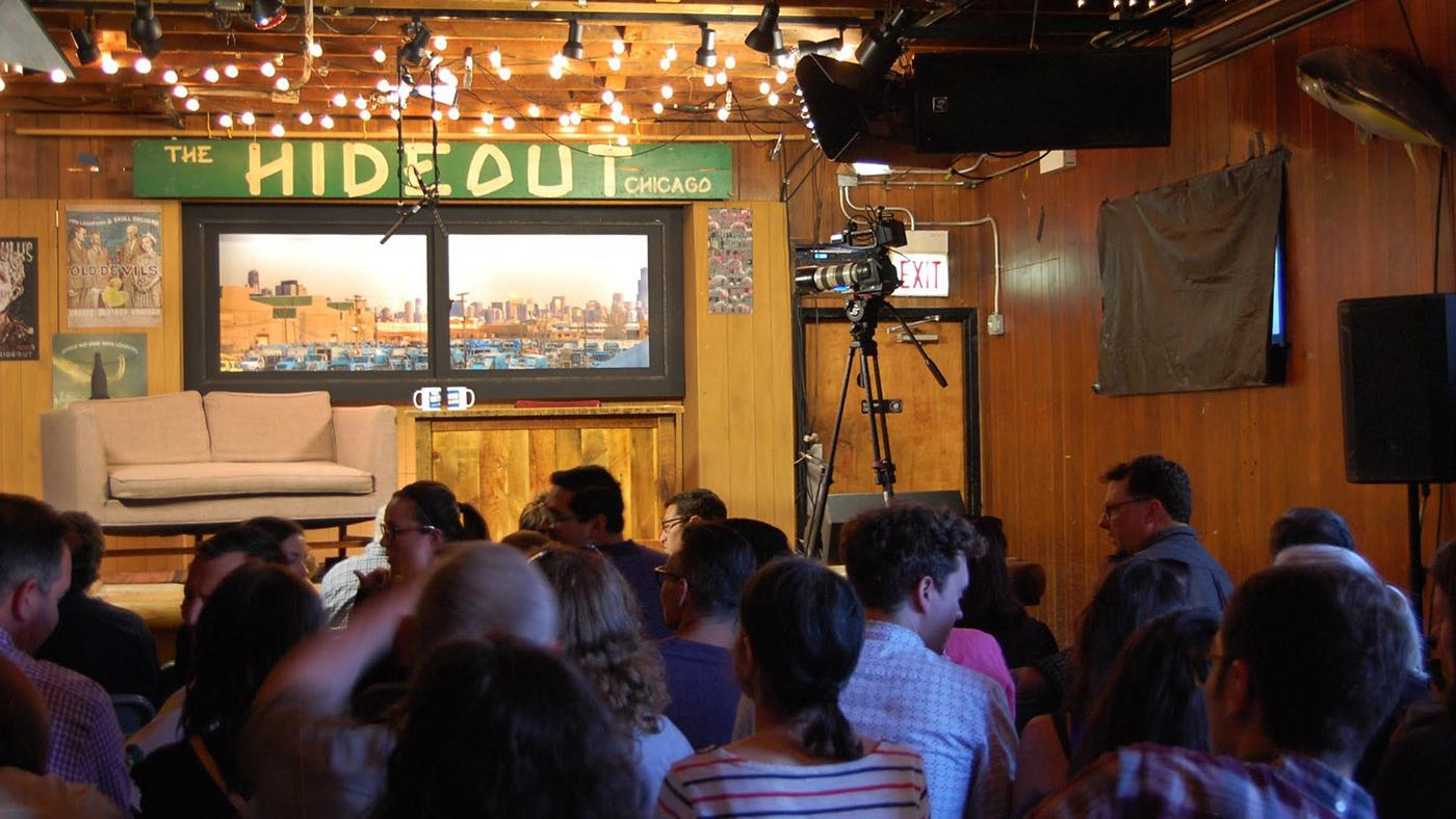 'The Interview Show with Mark Bazer' at the Hideout in Chicago. Photo: Caitrin Hughes