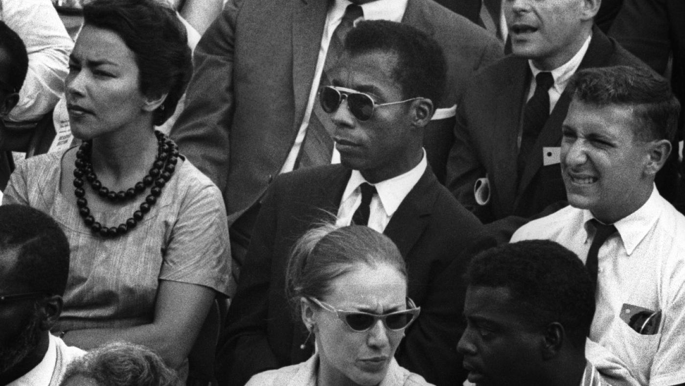James Baldwin in the crowd. March on Washington for Jobs and Freedom, 28 August 1963, Washington. Photo: Dan Budnik