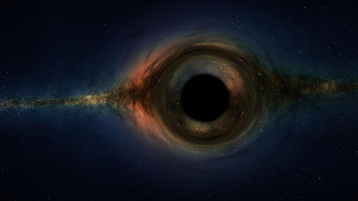 An illustration of a black hole. Image: Courtesy WGBH
