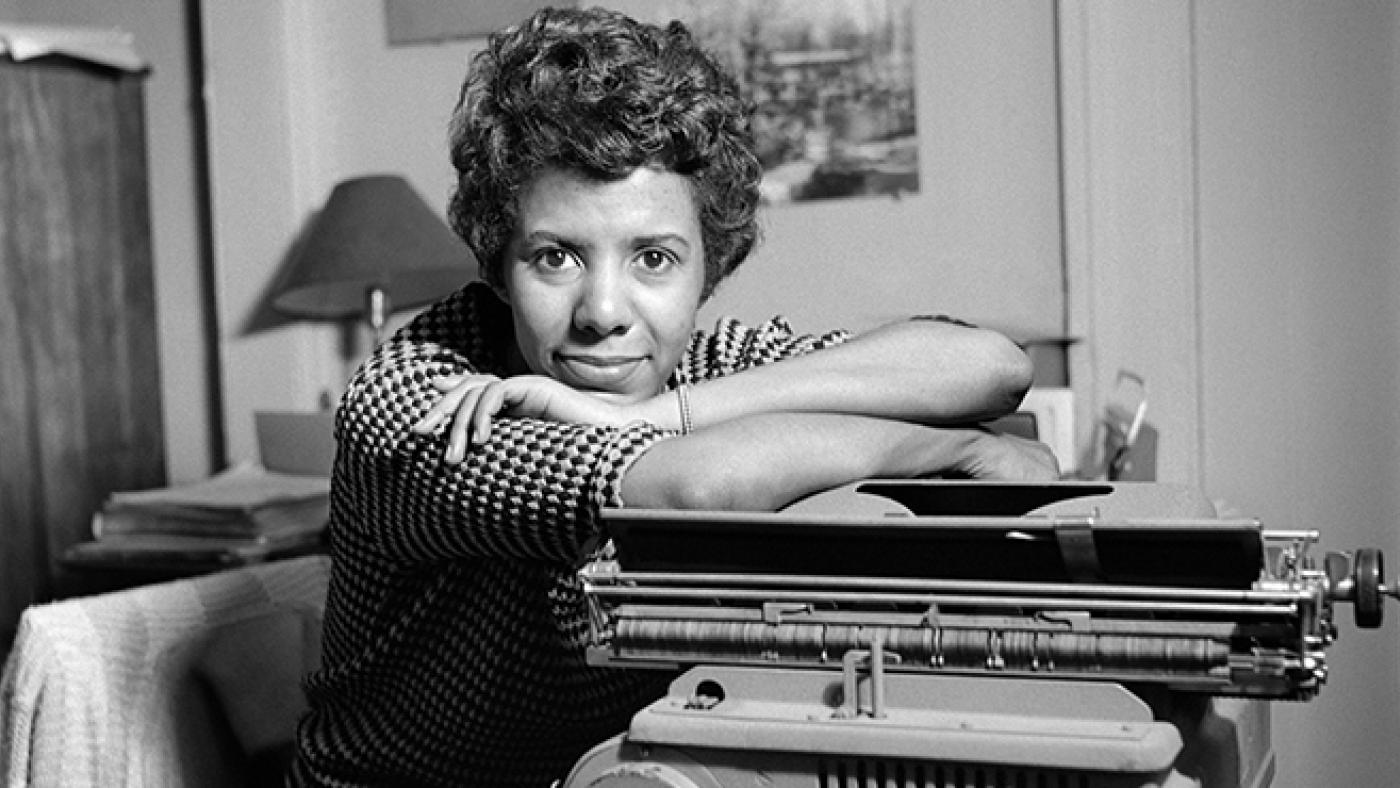 Lorraine Hansberry with her typewriter. Photo: David Attie