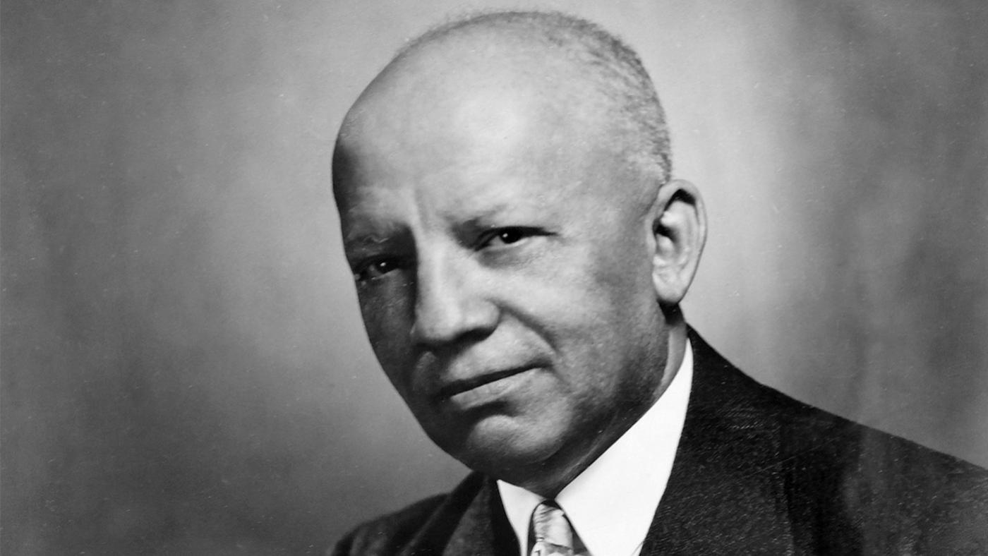 "Carter G. Woodson, the ""father of black history."" Image: Library of Congress"