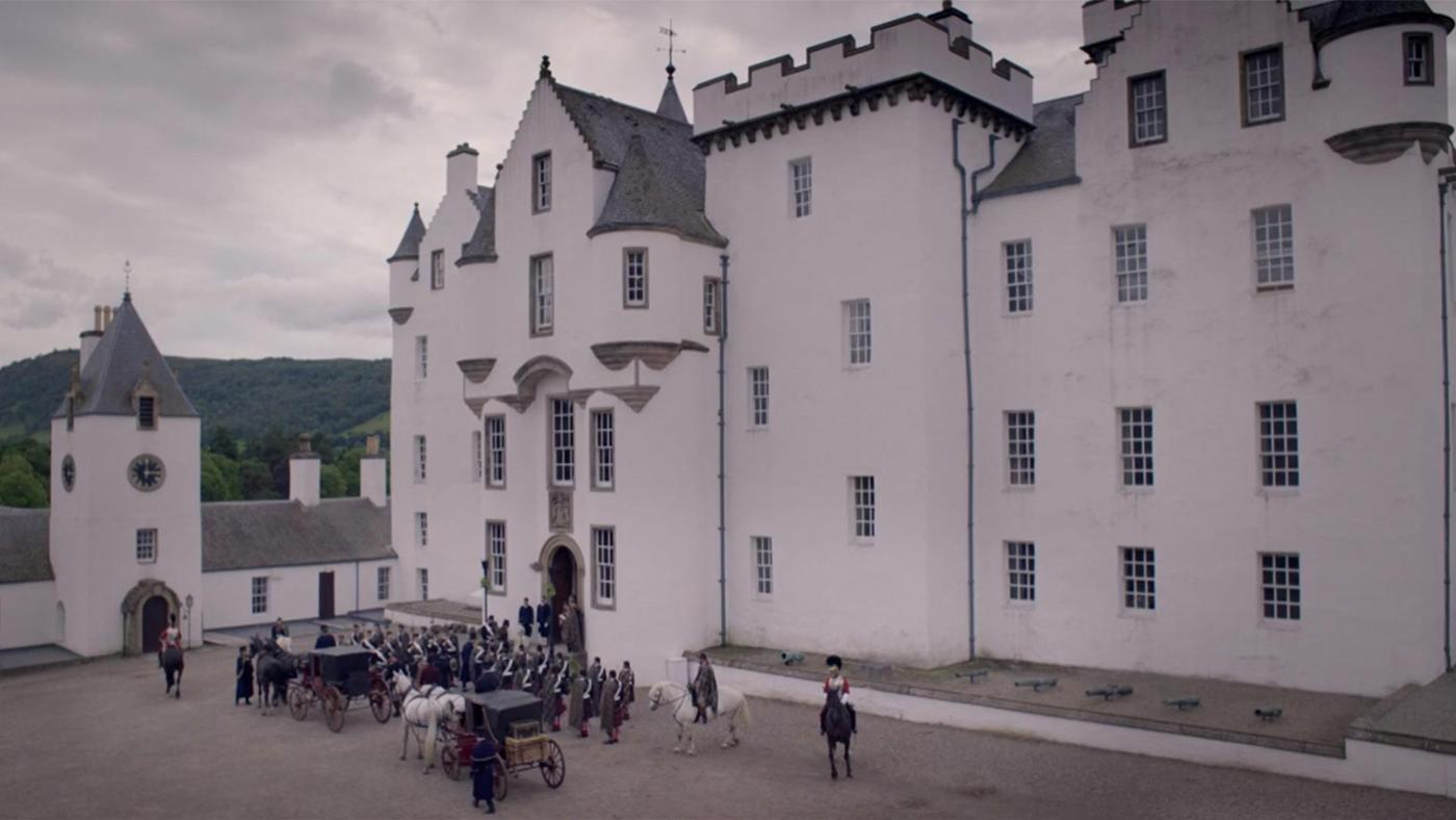 Blair Castle, the suit of the Scottish Duke of Atholl, in Victoria. Image: ITV Studios
