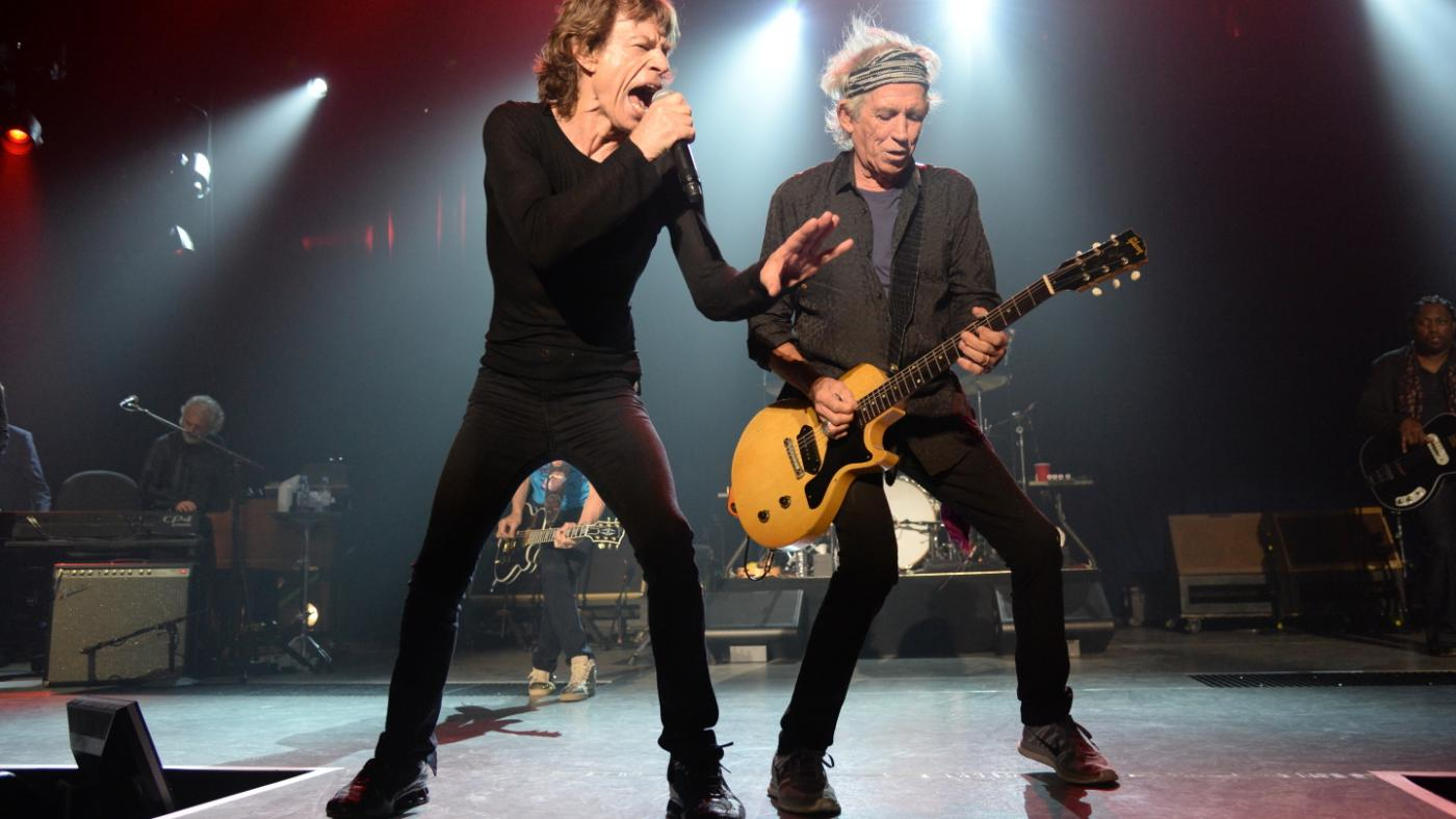 Mick Jagger and Keith Richards performing Sticky Fingers at the Fonda Theatre in 2015. Photo: Kevin Mazur
