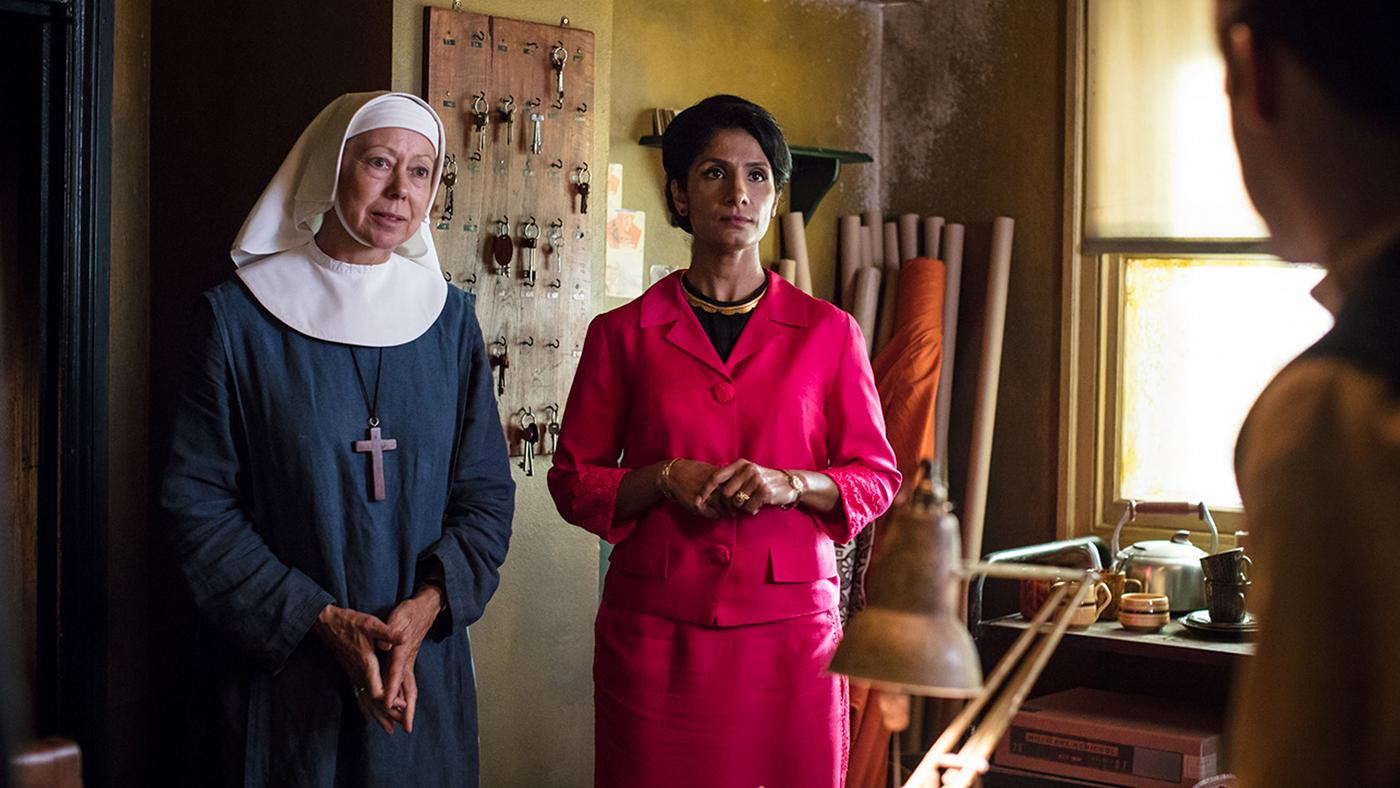 Sister Julienne and Mumtaz Gani in Call the Midwife. Photo: Neal Street Productions